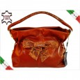 5890 Italian bag genuine leather VIT. ST. PIT. CUOIO by Gilda Tonelli