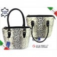 5192 women handbag snake Gilda Tonelli India Nero