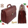 2215 italian Briefcase leather Brown Vacchetta TONELLI UOMO