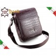 2054 Leather Messenger Bag Tonelli